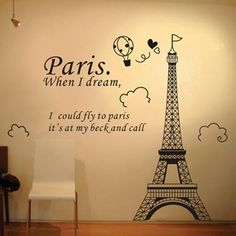 48 best Paris City Wall Decals Stickers images on Pinterest