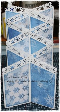 Mayas Hobbyblogg: Tutorial Double cascade card