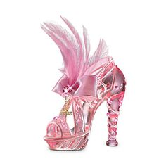 Breast Cancer Support Art Glass Shoe   'Reflections Of Hope Figurine'