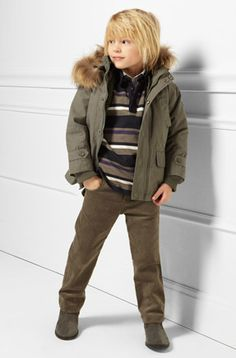 Great layering for little boys. Boys Fashion.