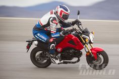 Freddie Spencer on the Honda Grom