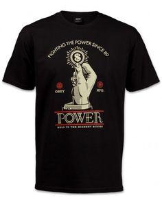 Obey Power Bidder Herren T-Shirt schwarz