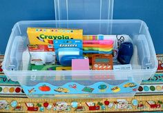 Homework Box  Put all school supplies in a box to keep at home for homework time