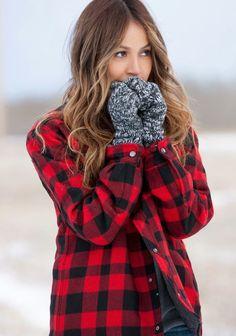 #winter #fashion / plaid