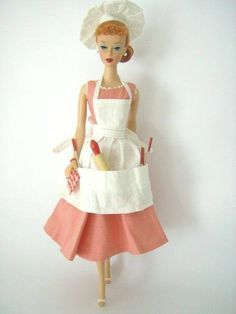 Classic Barbie in her Chef outfit - circa 1960