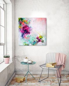 Original fine art abstract large painting abstract art