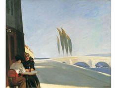 Edward Hopper, Le Bistro (The Wine Shop) Whitney Museum of American Art American Realism, American Artists, Edouard Hopper, Edward Hopper Paintings, The Wine Shop, Ashcan School, Grafik Art, Jack Vettriano, De Chirico