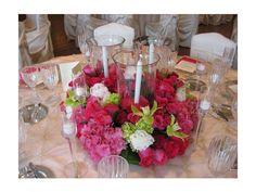 Arreglo de flores con rosas Centro de mesa para boda