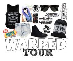 """""""Warped Tour Outfit #11"""" by cutemonsterbvb on Polyvore featuring C.R.A.F.T., Ray-Ban, Vans, Topshop, Converse and Chictopia"""
