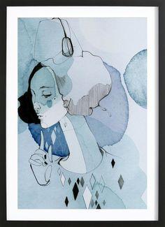 Miss Alva als Gerahmtes Poster von Ekaterina Koroleva | JUNIQE