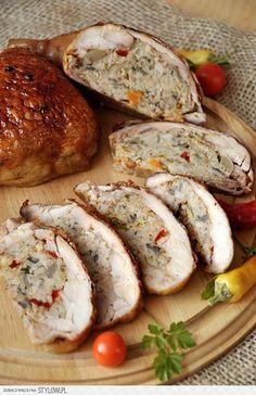 Ćwiartki kurczaka faszerowane mięsem mielonym i papryką… na Stylowi.pl