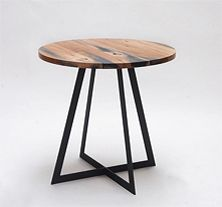 oak & steel cabin table