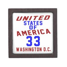 #United States Of America 33 Washington D.C. Gift Box - #giftidea #gift #present #idea #number #33 #thirty-third #thirty #thirtythird #bday #birthday #33rdbirthday #party #anniversary #33rd
