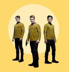 Chekov, Kirk and Sulu.