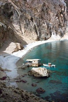 GLyka Nera beach and the cantina ~ Crete
