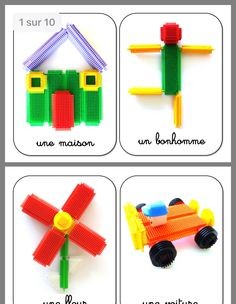 Kids Learning Activities, Stem Activities, Infant Activities, Block Area, Busy Boxes, Toddler Play, Lego Duplo, Pattern Blocks, Crafts To Make