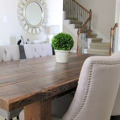 Our Dining Room Table We Made From Reclaimed Wood
