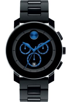 ♂ Movado watch black & blue