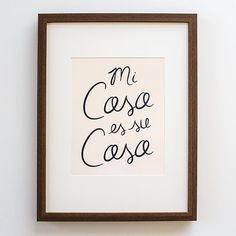 Spanish Print Mi Casa Print Poster Quote Home Decor Modern Calligraphy Bride Spanish Paper Goods Wall Wedding Pink Contemporary Decor, Modern Decor, Modern Design, Room Inspiration, Design Inspiration, Design Ideas, Spanish Posters, Modern Floor Lamps, Home Quotes And Sayings