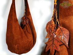leather leafy hobo bag ~ livit vivid