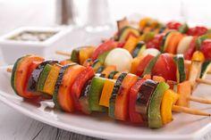 Grilled Vegetable Skewers | Gesunde Ernährung während der Stillzeit