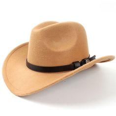 £6.99 GBP - Kid Child Boy Girl Wool Cowboy Hat Western Cap Panama Wide Brim bc23acc7f560