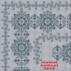 Gallery.ru / Фото #91 - 26/10/2018 - ergoxeiro Cross Stitch Designs, Cross Stitch Patterns, Cross Stitches, Blackwork Patterns, Cross Stitch Collection, Folk Embroidery, White Crosses, Diy And Crafts, Blue And White