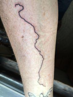 Mississippi River tattoo on my forearm || Magnetic North, Burlington VT