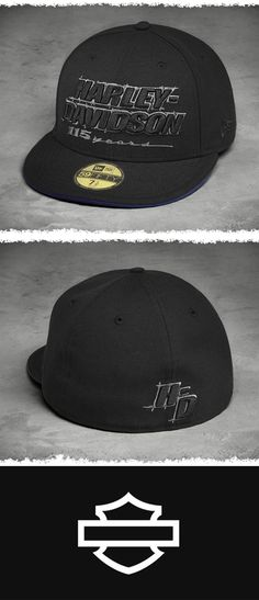 Shade your dome at anniversary rallies and reunions. | Harley-Davidson Men's 115th Anniversary 59FIFTY Cap