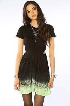 The Liberation Cut Out Dress in Mint by style stalker  SALE! 79.95