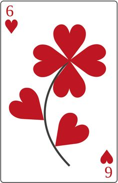 Six hearts of flower playingcard http://playingcards.marc-mueller.info/hearts
