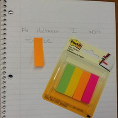 Post it Page markers
