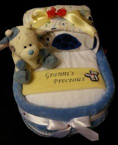 "Custom Order Small Bassinet Baby Gift for a precious little man .... Shalea Design by ""Shalea Gifts"""
