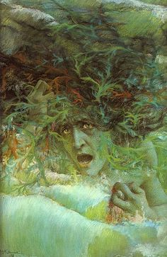 Medusa (The Angry Wave), 1897 by Lucien Levy-Dhurmer (French Dante Gabriel Rossetti, Medusa Pictures, Vampires, Illustrations, Illustration Art, Medusa Gorgon, Signo Libra, Tarot, Art Ancien