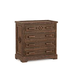 Rustic Four Drawer Chest #2580 (Shown in Natural Finish)