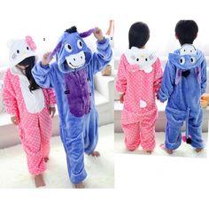 Winnie the Pooh Donkey Hello Kitty Children Onesies Kigurumi Sleep Suit Huispak
