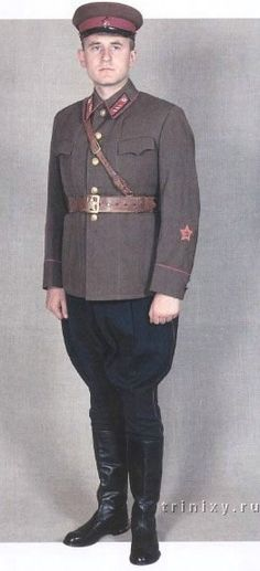 1941-1942 Soviet Red Army officers and commissars' service uniform.