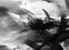 Black & white abstract watercolour