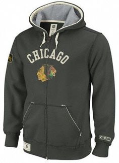 Reebok Chicago Blackhawks Classic Hockey Full Zip Hooded Sweatshirt Xx Large by Reebok. $71.99. The Reebok® classic Hockey full-zip hooded sweatshirt boasts a timeless design that never goes out of style. Your favorite NHL® team's name and logo adorn the chest in a mixture of felt and double-layered jersey. The front pockets, drawcord hood and ribbed detailing offer supreme comfort.