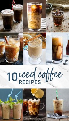 10 ICED COFFEE RECIPES Homemade It's easier than you think to make at home. We think its the best way to start any day, and there are so many EASY ways to make it your own. If you've wondered how to make Iced Coffee, we have you covered! Homemade Iced Coffee, Best Iced Coffee, Iced Coffee At Home, Iced Coffee Drinks, Coffee Drink Recipes, Espresso Drinks, Coffee Mugs, Iced Coffee Latte Recipe, Joe Coffee
