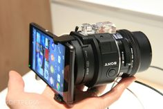 Hands-On: Sony E-Mount Interchangeable Lens Camera at IFA 2014 news. Sony Camera, Iphone Camera, Camera Gear, Digital Camera, New Technology Gadgets, Spy Gadgets, Accessoires Photo, Future Gadgets, Best Smartphone