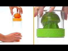 Create your own light and refreshing citrus water infusions with this unique water bottle with built in citrus juicer. Citrus Water, Infused Water, Citrus Juicer, Gifts For Mum, Drink Bottles, Water Bottle, Drinks, Objects, Gift Ideas