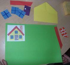 maison à reconstituer Autism Activities, Toddler Activities, Visual Perception Activities, Home Daycare, French Classroom, Petite Section, Little Pigs, Worksheets For Kids, Pattern Blocks