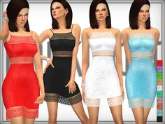 Sims 4 CC's - The Best: Lace Bodycon Dress by DarkNigTt
