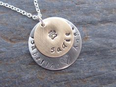 Personalized Metal Stamped Necklace with Your Pets Names