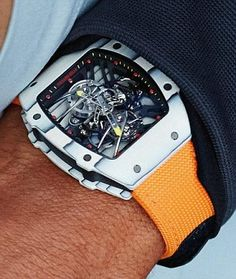 Rafael Nadal's new RM 27-02 timepiece, but how the hell do you tell the time?