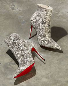 Christian Louboutin So Kate 100 Calf Caligraf Red Sole Booties Bootie Boots, Heeled Boots, Shoe Boots, Red Bottom Heels, Christian Louboutin So Kate, Red Sole, Red Bottoms, Luxury Shoes, Cute Shoes