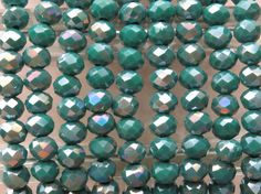 6x4mm Faceted Opaque Persian Turquoise AB by beadsandbabble, $5.99