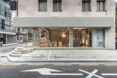 Etcetra project : Jeonghwa Seo Gray Interior, Cafe Interior, Best Interior, Home Interior Design, Interior Architecture, Grey Doors, Cool Cafe, Cafe Design, Booth Design