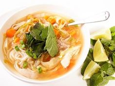 Spicy Chicken Noodle Soup with Lime and Ginger | Serious Eats : Recipes